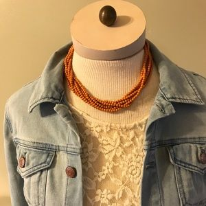 Jewelry - Vintage Boho Free People style wood look necklace